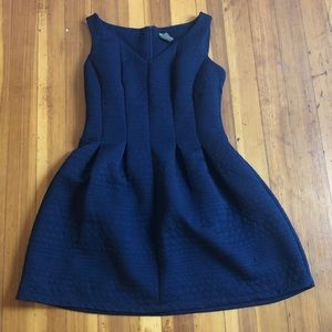 Taylor navy fit and flare dress